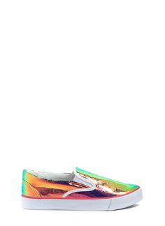 Hologram slip on sneakers - All Walks of Life - GoJane