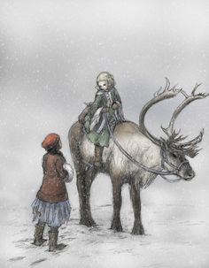 """ejbeachy:  """"The Snow Queen"""", by Hans Christian Andersen Fifth Story, The Little Robber Girl"""