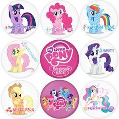 "MY LITTLE PONY 1.75"" Badges Pinbacks, Mirror, Magnet, Bottle Opener Keychain http://www.amazon.com/gp/product/B00K59KIBC"