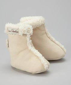 Another great find on #zulily! Cream Booties by Luca Charles #zulilyfinds