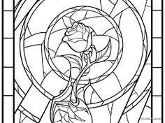 Image Result For Beauty And The Beast Enchanted Rose Stained Glass Disney Coloring PagesAdult