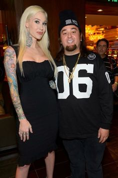"Actress Sabina Kelley with Pawn Stars' Austin ""Chumlee"" Russell"