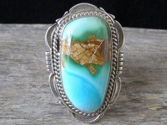 Cecil Atencio Royston Turquoise Ring... at Chacodog.com