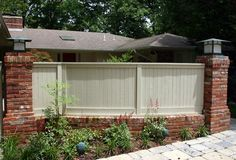 Brick Fence cedar wood