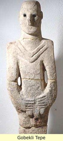 3. Navali Cori (near Gobekli Tepe) Limestone Sculpture of a man c. 8000 BC  -------Earliest lifesize sculpture of a man - limestone.