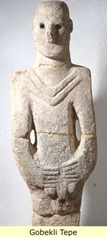 3. Navali Cori (near Gobekli Tepe) Limestone Sculpture of a man c. 8000 BC  -------Earliest lifesize sculpture of a man - limestone.
