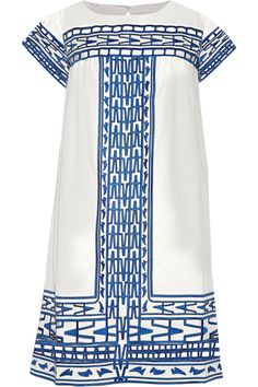 SEA | Cutout embroidered cotton-voile mini dress | NET-A-PORTER.COM