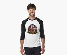 Camiseta bicolor de varbbo #ilustración #art #fantasy #shirt #shop #moda #black #White #redbubble