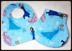 Hey, I found this really awesome Etsy listing at https://www.etsy.com/listing/199850593/frozen-bib-and-burp-cloth-set