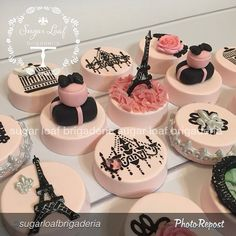 """aren't they EXQUISITE! By """"Because Paris is always a good idea. I am a total Francophile so this set was pure bliss for me! Cupcakes, Cupcake Cookies, Beautiful Cakes, Amazing Cakes, Chocolates, Paris Themed Cakes, Ballerina Cakes, Barbie Cake, Drop Cookies"""