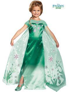 Girl's Elsa Frozen Fever Deluxe Costume | Disney Princess Costumes