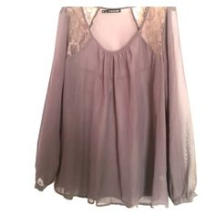 Nude/lavender peasant top XL/XXL in Maurice's size Maurices Tops Blouses