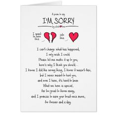 im sorry sticklove card