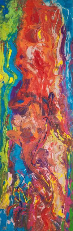 VÝSKOK 50 x 150 cm Akryl na plátně 2016 www.zuzanakrovakova.cz JUMP 50 x 150 cm Acrylic on canvas 2016 www.zuzanakrovakova.com