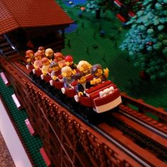 This Lego roller coaster is incredible