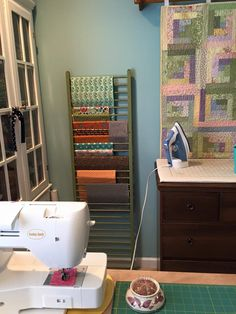Crib rail to showcase fabrics for future projects