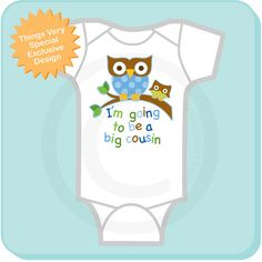 Big Cousin Onesie I'm going to Be a Big by ThingsVerySpecial