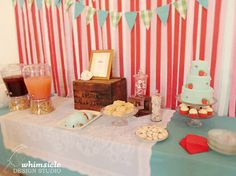 Dessert Table | Strawberry Baby Shower by Whimsicle Design Studio