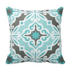 Quatrefoil Harford Slub Macon Spirit Decorative Pillow Cover with Solid Backing fabric Blue Pillows, Throw Pillows, Couch Pillows, Accent Pillows, European Pillows, Premier Prints, Geometric Pillow, Textiles, Home Decor Shops