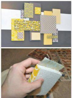 Quadro - tecido e isopor
