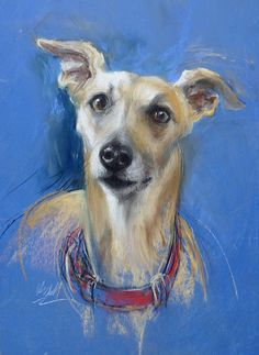 REBECCA DE MENDONCA, Charlie, pastel, 56x49cm. Vote for your favourite artwork from our 50 shortlisted Artists of the Year > http://www.artistsandillustrators.co.uk/shortlist2017 #AOTY2017
