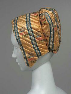 Quilted cap, Spanish or Italian, 18th century, The Museum of Fine Arts, Boston