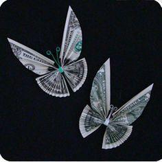 Money Origami! Neat!