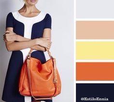 Trucos de moda: Cómo combinar los colores y no morir en el intento... Te dejamos algunas ideas... #moda #estilo Colour Schemes, Color Trends, Color Combos, Color Patterns, Colour Palettes, Colour Combinations Fashion, Fashion Colours, Colorful Fashion, Color Palate
