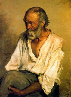Early Picasso The Old Fisherman (1895) Pablo Picasso