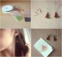 Dirty. Inspiring. Young: DIY: Watermelon Earrings