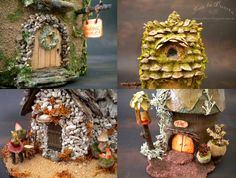 I present my first Fairy Houses. There have been many hours of rewarding work. I feel very good about the end result of my Fairy Houses. Hope you like. Ooak and fantasy doll. By Silver Berry. Ooak Art Doll One of a Kind Fantasy Sculpture.