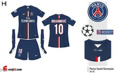 Paris St Germain home kit for 2014-15.