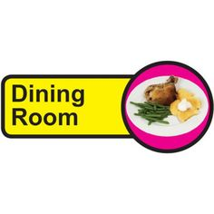 Dining Room Sign, Dementia Friendly - x Signs Of Dementia, Dementia Activities, Plastic Signs, Sign Materials, Room Doors, Room Signs, Sign Design, Adhesive Vinyl, Helping People