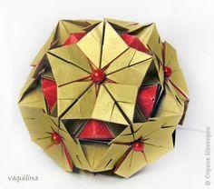Kusudama Origami Master Class MC Snowflake Irina REUTSKY Photo Paper 1