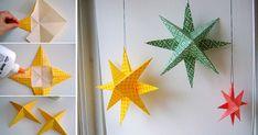 Snadný a názorný návod na výrobu krásné hvězdy z papíru. Hvězdy můžete vytvářet v různých barvách a velikostech a mít tak celé souhvězdí. Potřebujeme Čtverec barevného papíru, či papír na origami tužku nůžky lepidlo provázek na zavěšení Postup Krok 1 Čtverec papíru poskládáme dle obrázků níže Krok 2 Tužkou si označíme bod na přehybu papíru. ...