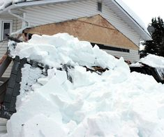 Roof Maintenance and Preventing Collapse Ice Dams, Cool Roof, Roofing Contractors, Roof Repair, House Roof, Things To Come, House Design, Snow, Tips
