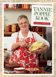 """""""Die Chuck Norris van Suid-Afrikaanse kos"""" en """"almal se ouma"""" is maar van die talle maniere waarop Tannie Poppie bekend is aan haar duisende aanhangers. Dié gewildste van al die TV-Kokkedore het nou haar eie kookboek. Good Mood, Poppies, Veggies, Yummy Food, Healthy Recipes, Baking, Chuck Norris, Puddings, Kos"""