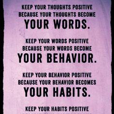 Keep it positive!