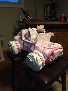 Jeep Wrangler diaper cake! Jeep Diaper Cake, Nappy Cake, Diaper Cakes, Jeep Wrangler, Cake Ideas, Babyshower, Shower Ideas, Babies, Gift Ideas
