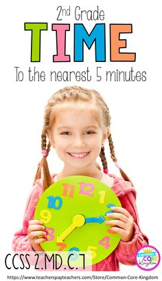Are you teaching your 2nd graders how to tell time to the nearest five minutes? This unit is scaffolded for second graders to tell time to the nearest hour, half hour, quarter hour, and five minutes. Unit includes worksheets, mini book, quiz, and center game. Click here to purchase.