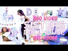 360 Interactive Video: Sisters Dollhouse Sophie & Chloe Bedroom Tour - VR - YouTube