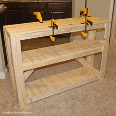Beckham + Belle: Super Easy DIY Wooden Entryway Console Table