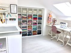 Sewing Room Furniture, Diy Garden Furniture, Sewing Room Organization, Craft Room Storage, Decoration Christmas, Space Crafts, Craft Space, Aesthetic Bedroom, Office Walls
