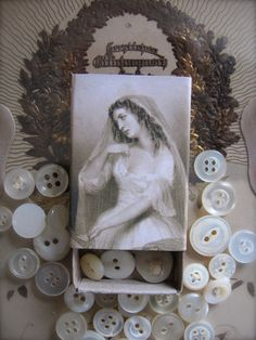 Altered Matchbox  Vintage Buttons by PetiteMichelleLouise on Etsy, $4.50