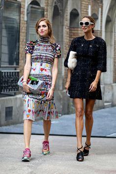 Chiara & Candela kicking it in Paris. #CandelaNovembre #TheBlondeSalad