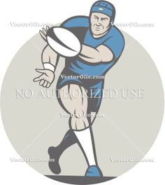 artwork, ball, cartoon, front, graphics, illustration, male, pass, passing, player, rugby, rugby league, rugby union, run, running, sport