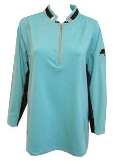 Meet fizz jamie sadock women 39 s plus size short sleeve golf for Sun protection golf shirts