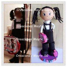 Creaciones Mayte SG: Fofucha niña colegiala