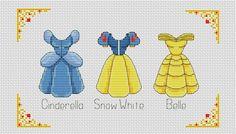 Disney cross stitch pattern Disney princess dress by AvroraCS Cross Stitch Needles, Cute Cross Stitch, Cross Stitch Alphabet, Disney Cross Stitch Patterns, Modern Cross Stitch Patterns, Cross Stitch Designs, Hama Disney, Learn Embroidery, Cross Stitch Embroidery