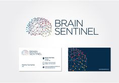 04.13.2013 | Logo and stationery for Brin Sentinel by GoxPax #POTD99 #science #medical